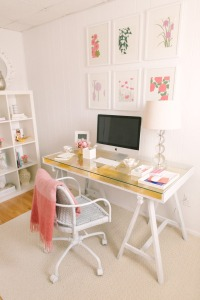 Home office mesa com cavalete