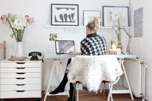 Home office mesa com cavalete